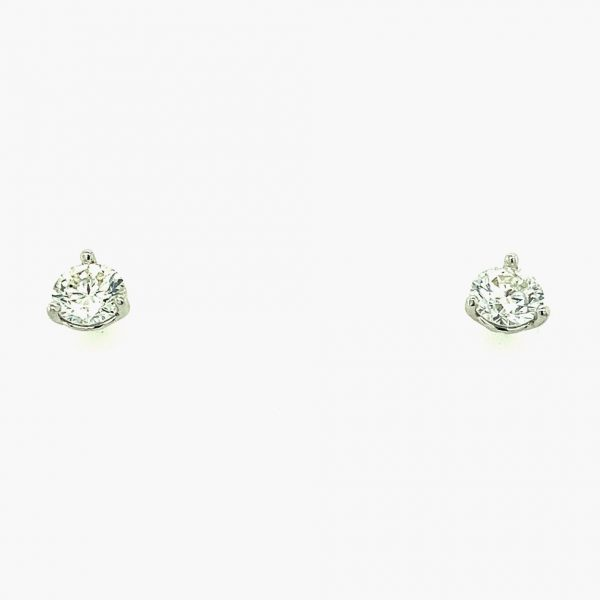 Estate Diamond Solitaire Studs