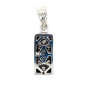 Estate Diamond Rectangle Pendant