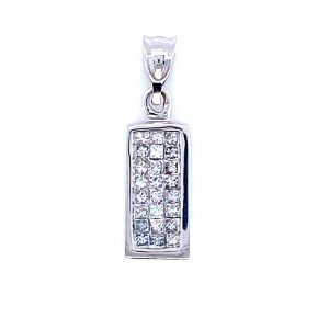 Estate Diamond Rectangle Pendant