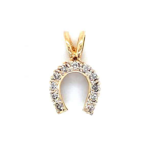 Estate Diamond Horseshoe Pendant