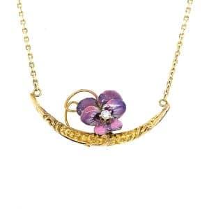 Estate Honeymoon Diamond Necklace