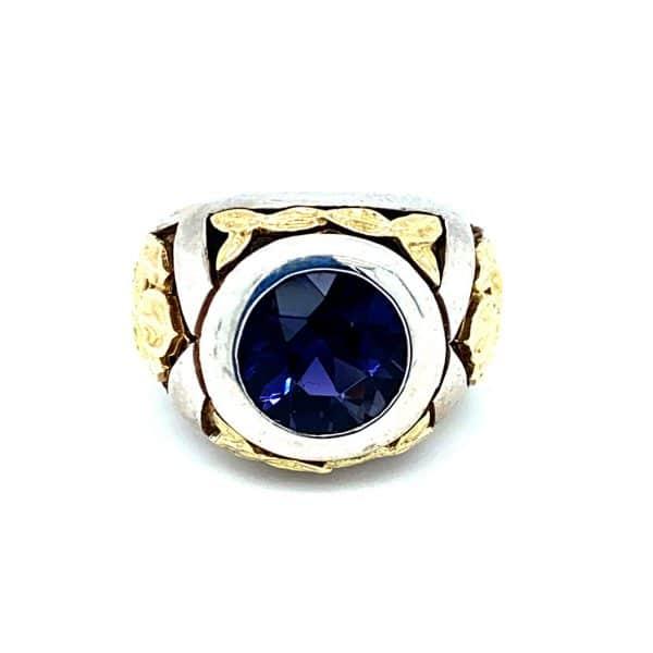 Estate Mitchell Peck Iolite Ring