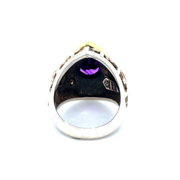 Estate Mitchell Peck Amethyst and Citrine Ring
