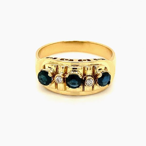 Estate Sapphire and Diamond Ring