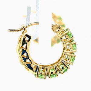 Estate Peridot Huggie Earrings