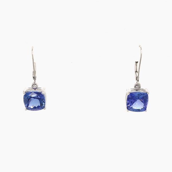 Estate Tanzanite Drop Earrings