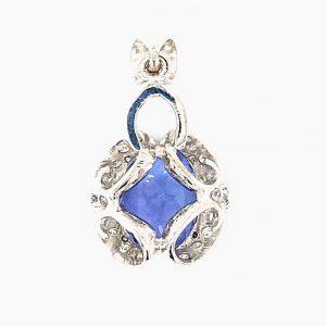 Estate Tanzanite and Diamond Pendant