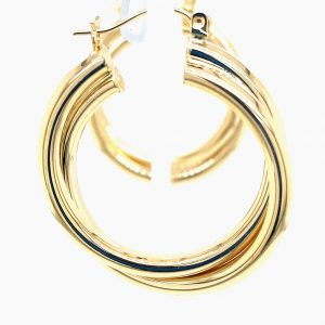 Estate Double Twist Hoops