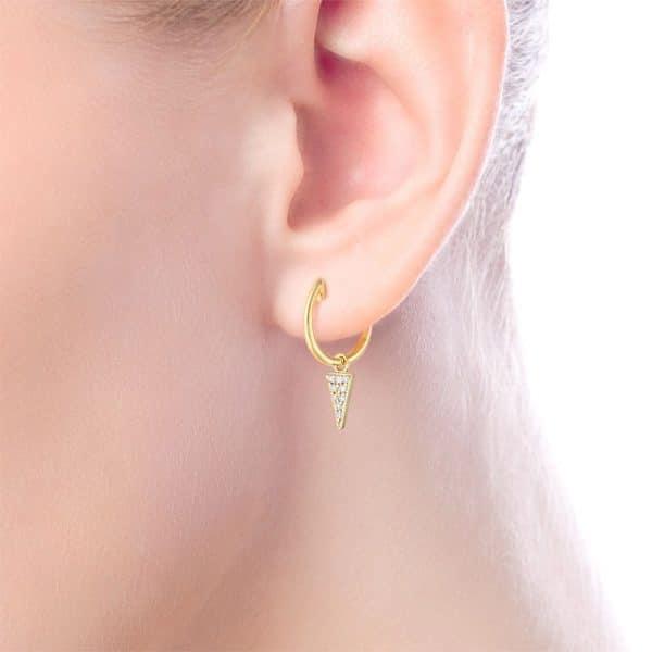 Diamond Dangle Huggie Earrings by Gabriel & Co.