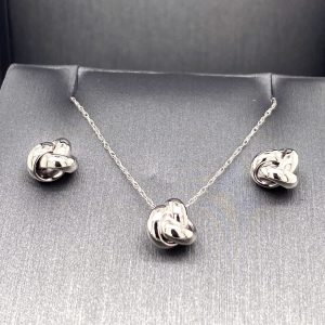 Love Knot Pendant and Earrings- Multiple Available