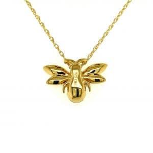 Diamond Bee Necklace