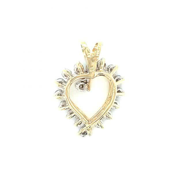 Estate Diamond Open Heart
