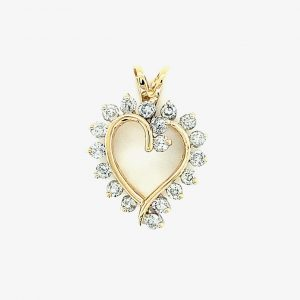 Estate Diamond Open Heart
