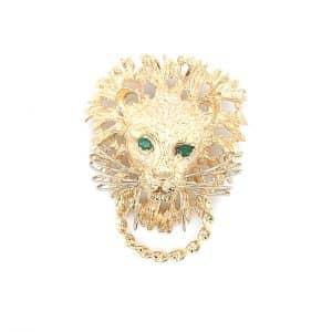 Estate Lion Head Door Knocker Pendant