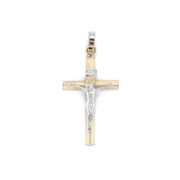 Estate Two-tone Crucifix