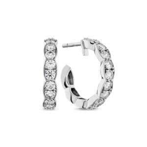 Lorelei Floral Hoop Earrings