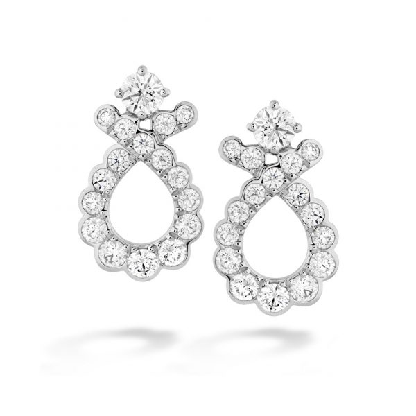 Aerial Regal Scroll Diamond Earrings
