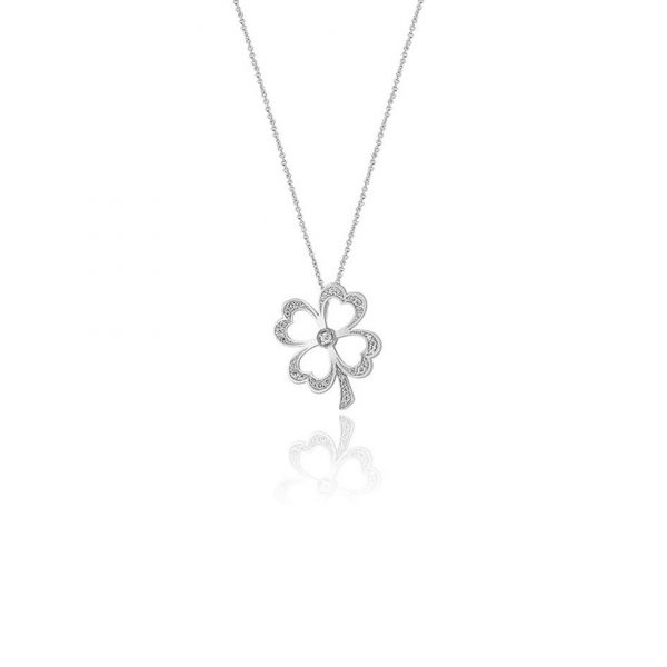 Four Leaf Clover Diamond Pendant
