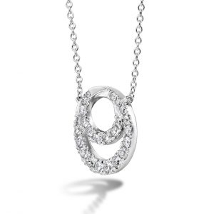 Optima Diamond Circle Pendant