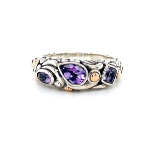 Amethyst Swirl Ring