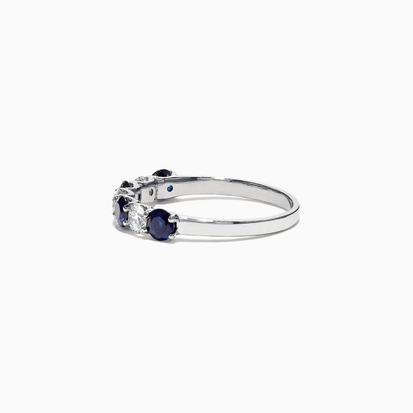 Alternating Diamond and Sapphire Band