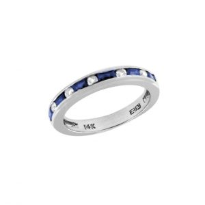 Channel Set Sapphire and Diamond Band