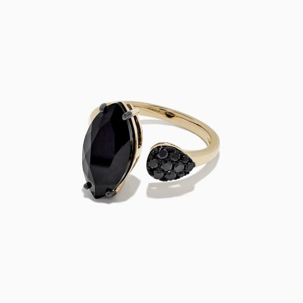 Onyx and Black Diamond Ring