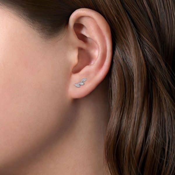 Diamond Marquise Shaped Earrings