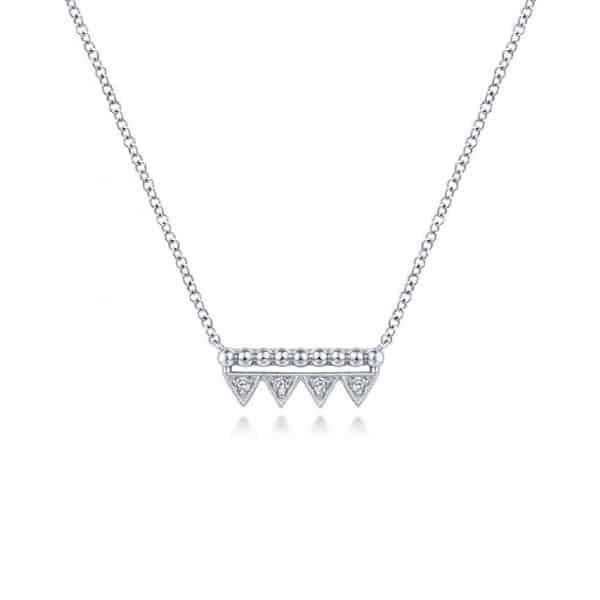 Bujukan Beaded Triangle Bar Necklace