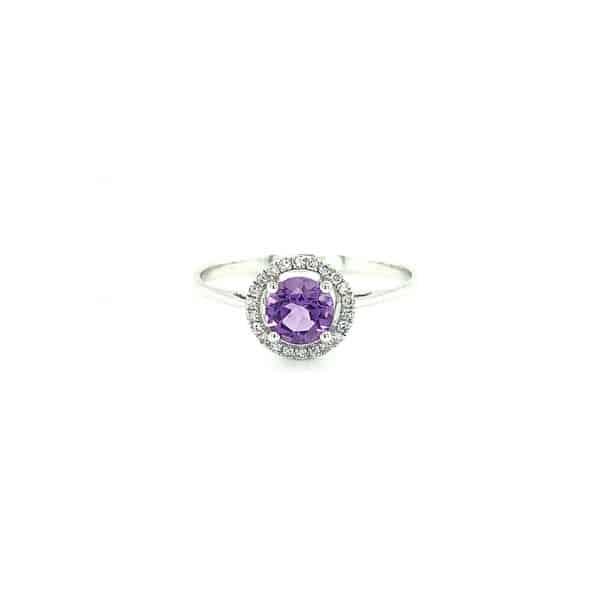 Gemstone Halo Ring - Multiple Available