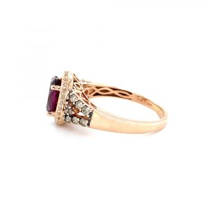 Estate Garnet and Diamond Le Vian Ring