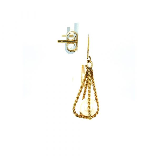 Estate Pearl Cage Earrings