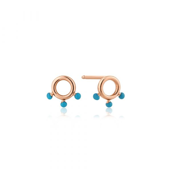 Dotted Circle Stud Earrings