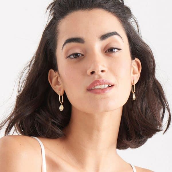 Winged Goddess Hoop Earrings