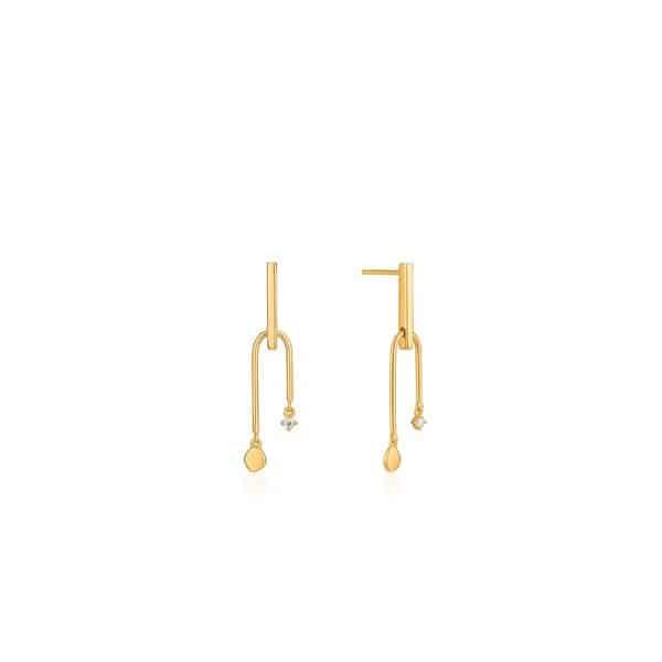 Double Drop Stud Earrings