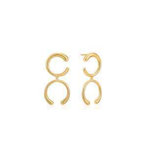 Luxe Double Curve Earrings