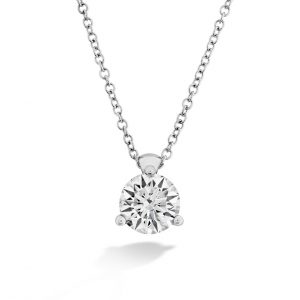 Classic Three Prong Diamond Pendant