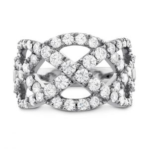 Intertwining Diamond Fashion Ring