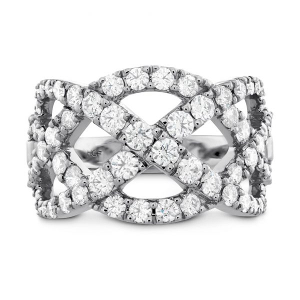 Intertwining Diamond Fashion Ring
