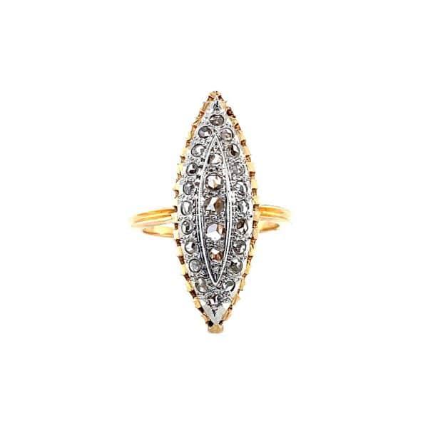Estate Navette Diamond Ring