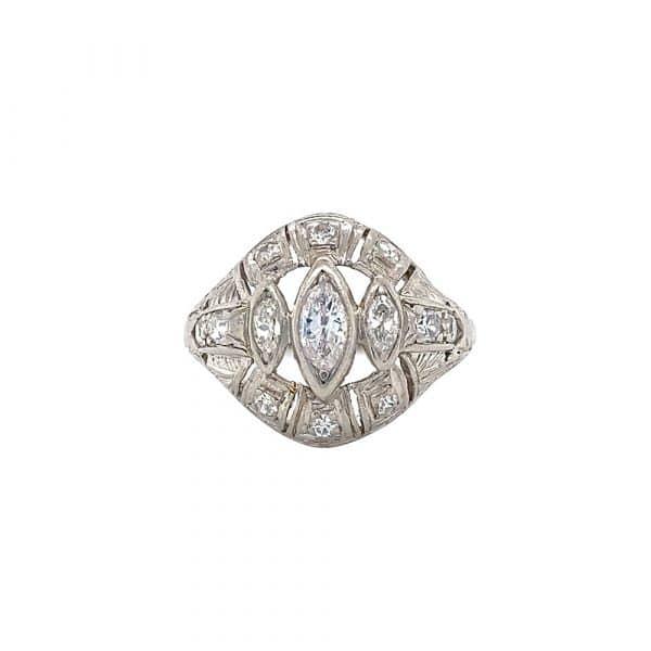 Estate Art Deco Domed Engagement Ring