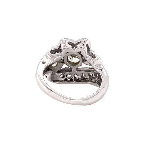 Estate Retro Diamond Floral Ring