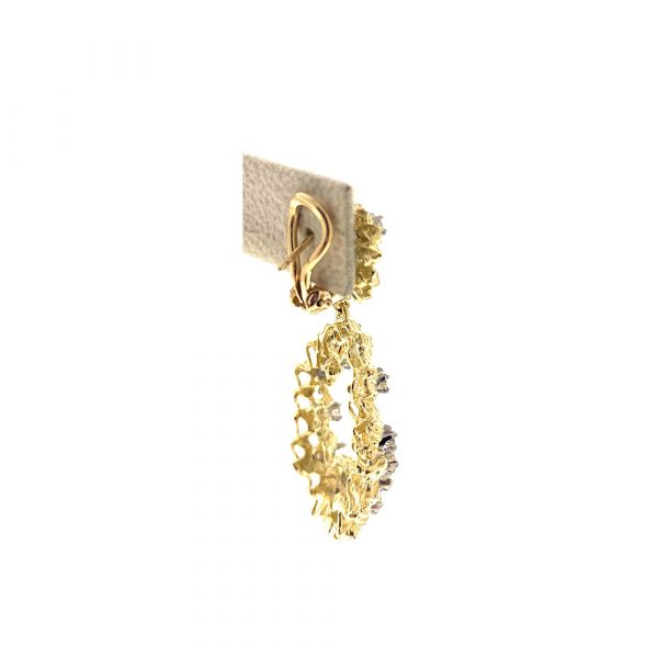 Estate Door Knocker Style Earrings
