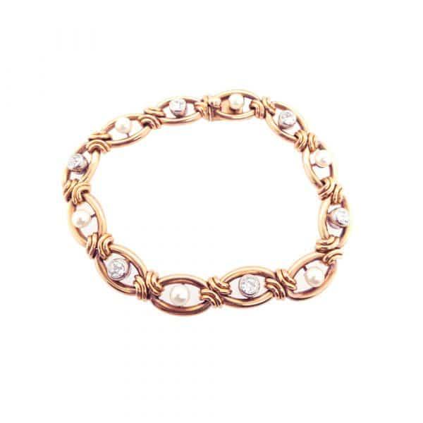 Estate Art Nouveau Pearl Bracelet
