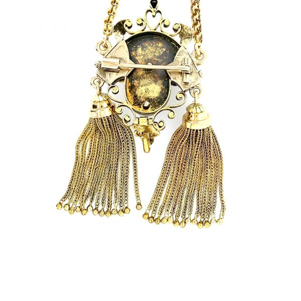 Estate Seed Pearl Tassel Necklace