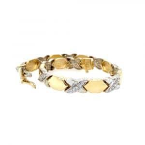 Estate Diamond X Link Bracelet