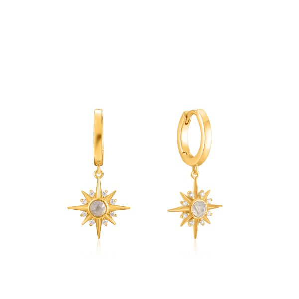 Midnight Star Huggie Earrings