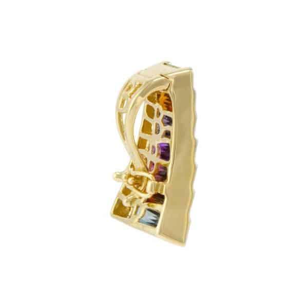 Rainbow Gemstone and Diamond Pendant