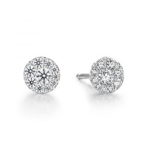 Tessa Diamond Circle Earrings