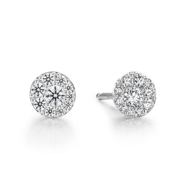 Tessa Diamond Circle Earrings